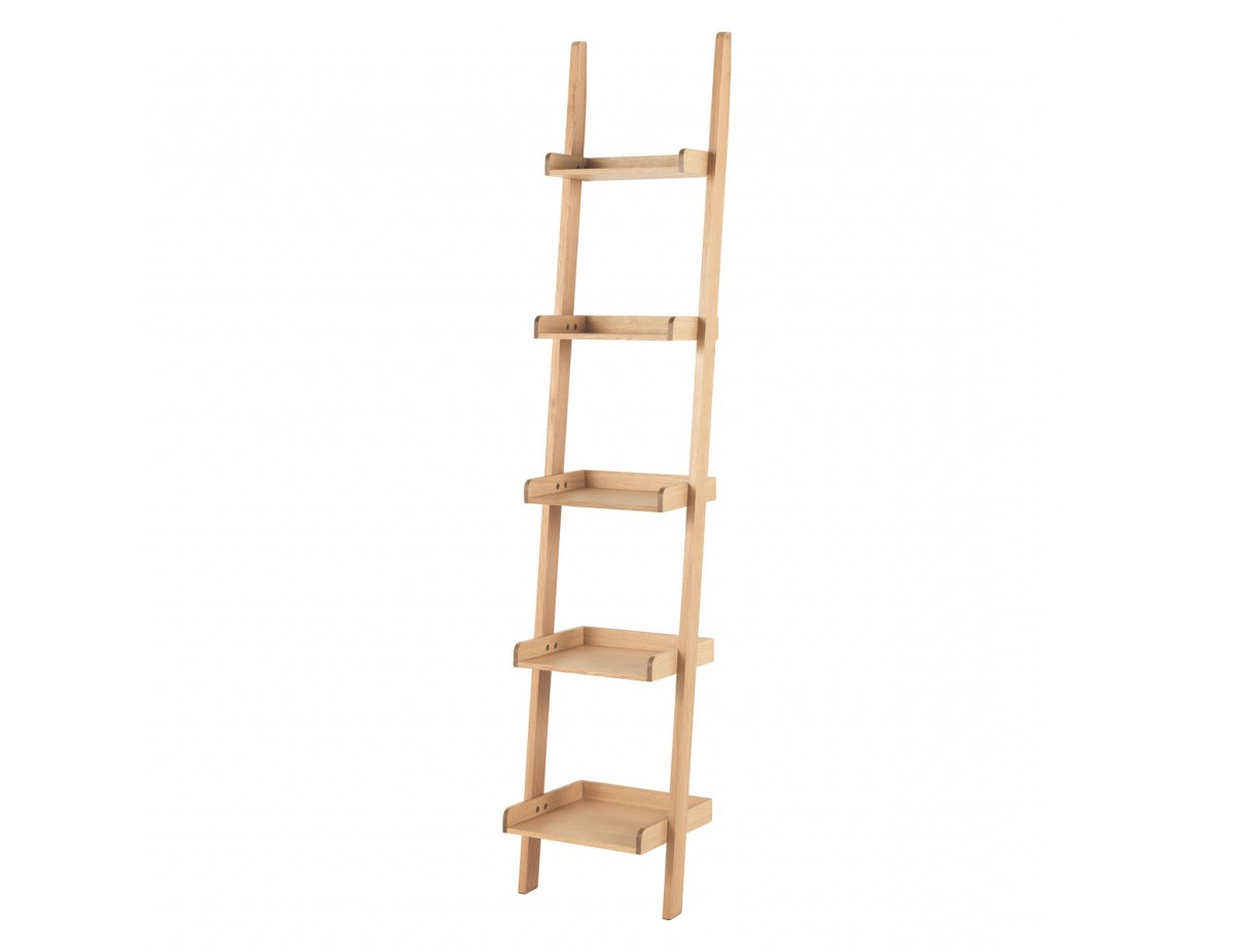 Well Liked Jessie Oak Narrow Leaning Bookcase Intended For Narrow Ladder Bookcases (View 20 of 20)