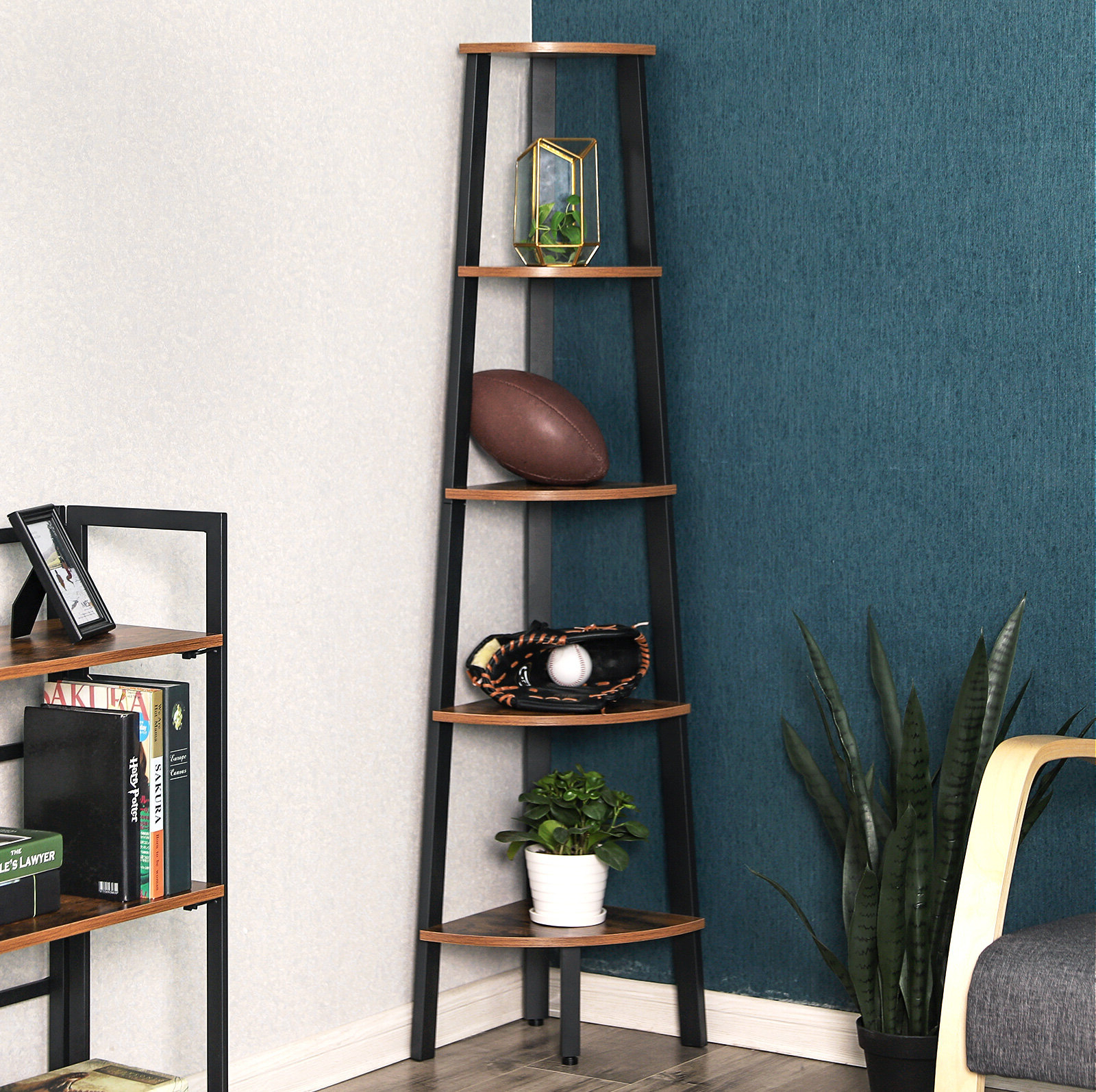 Well Liked Josh Corner Bookcase For Taylorville Corner Bookcases (View 15 of 20)