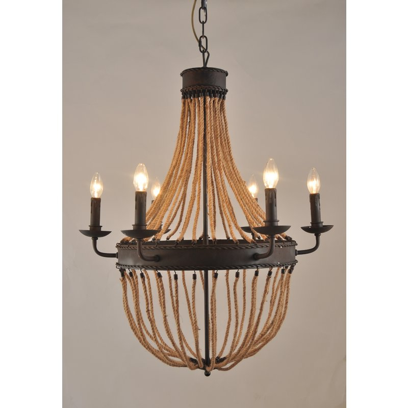 Well Liked Phifer 6 Light Empire Chandeliers In Maryjo 6 Light Empire Chandelier (View 7 of 25)