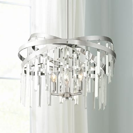 "Well Liked Possini Euro Ellie 21"" Wide Crystal Chandelier – #9h769 Inside Aldgate 4 Light Crystal Chandeliers (View 18 of 25)"