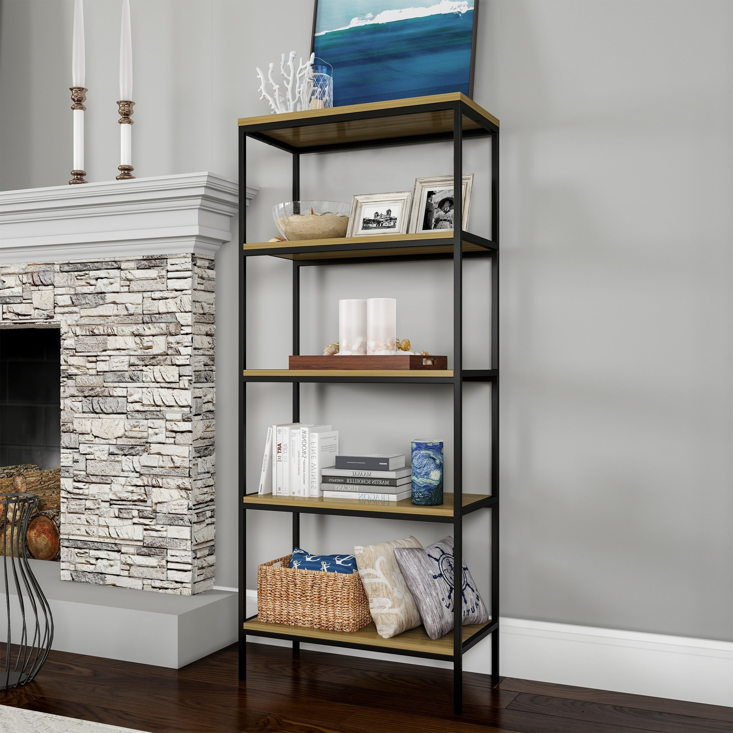 Well Liked Poynor Etagere Bookcases With Buy Etagere Bookshelves & Bookcases Online At Overstock (View 20 of 20)