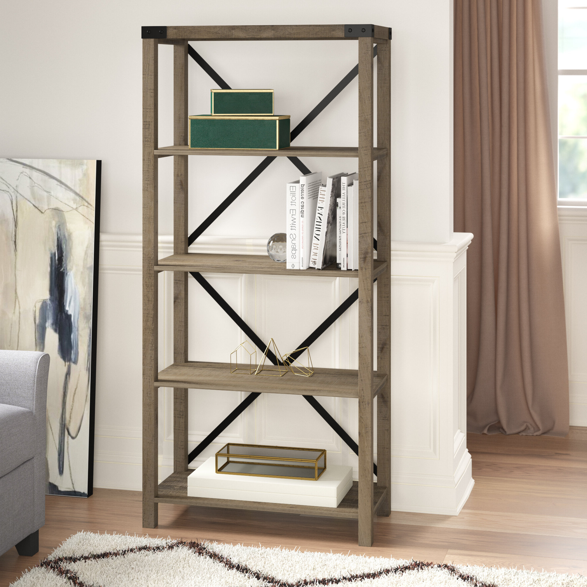 Well Liked Schreiner Etagere Bookcase With Destiny Etagere Bookcases (View 11 of 20)