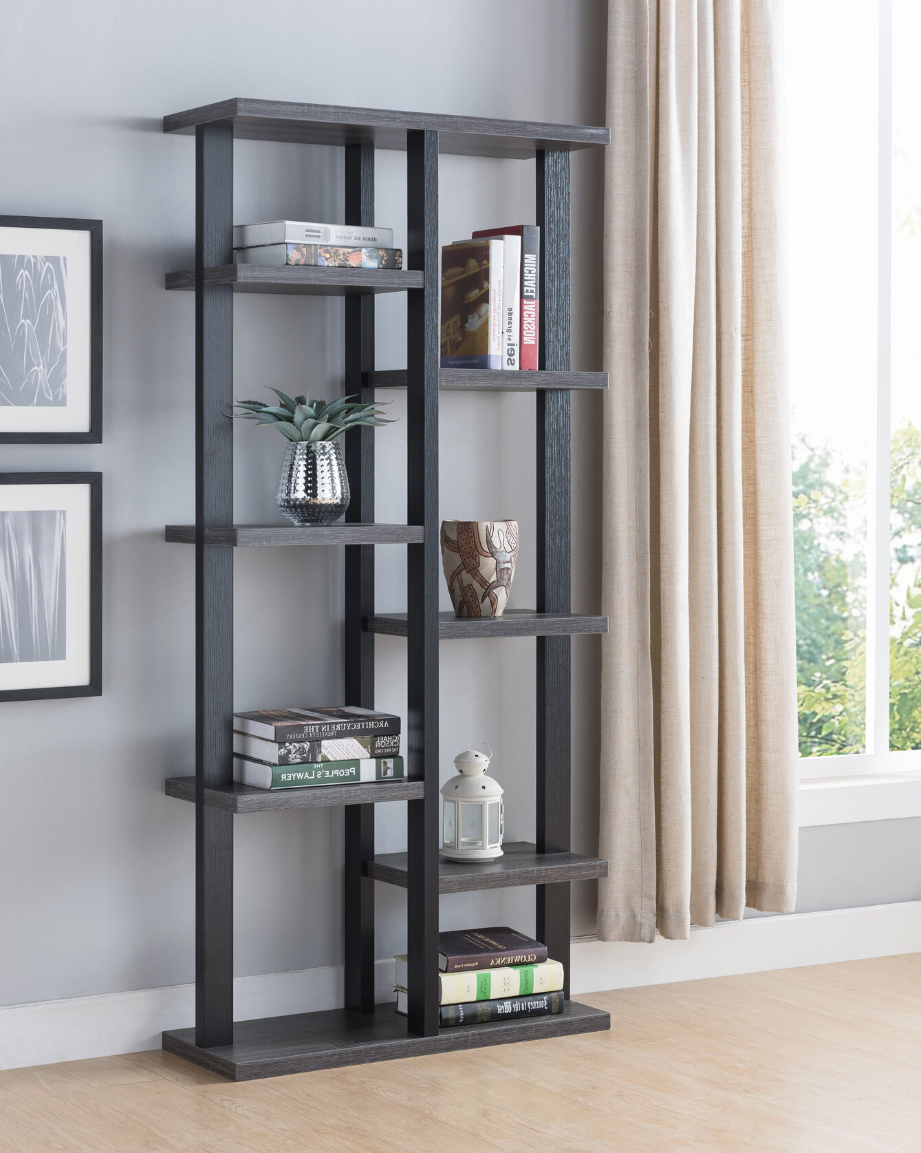 Well Liked Sloan Etagere Bookcase Within Hitz Etagere Bookcases (View 19 of 20)