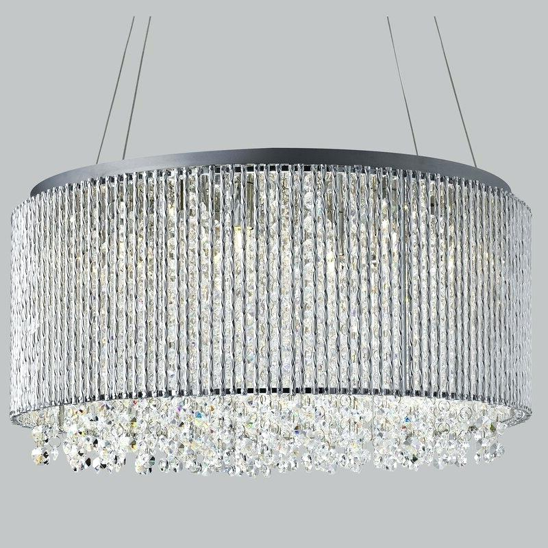 Well Liked Verdell 5 Light Crystal Chandeliers Pertaining To Light Crystal Chandelier – Petprovide (View 25 of 25)