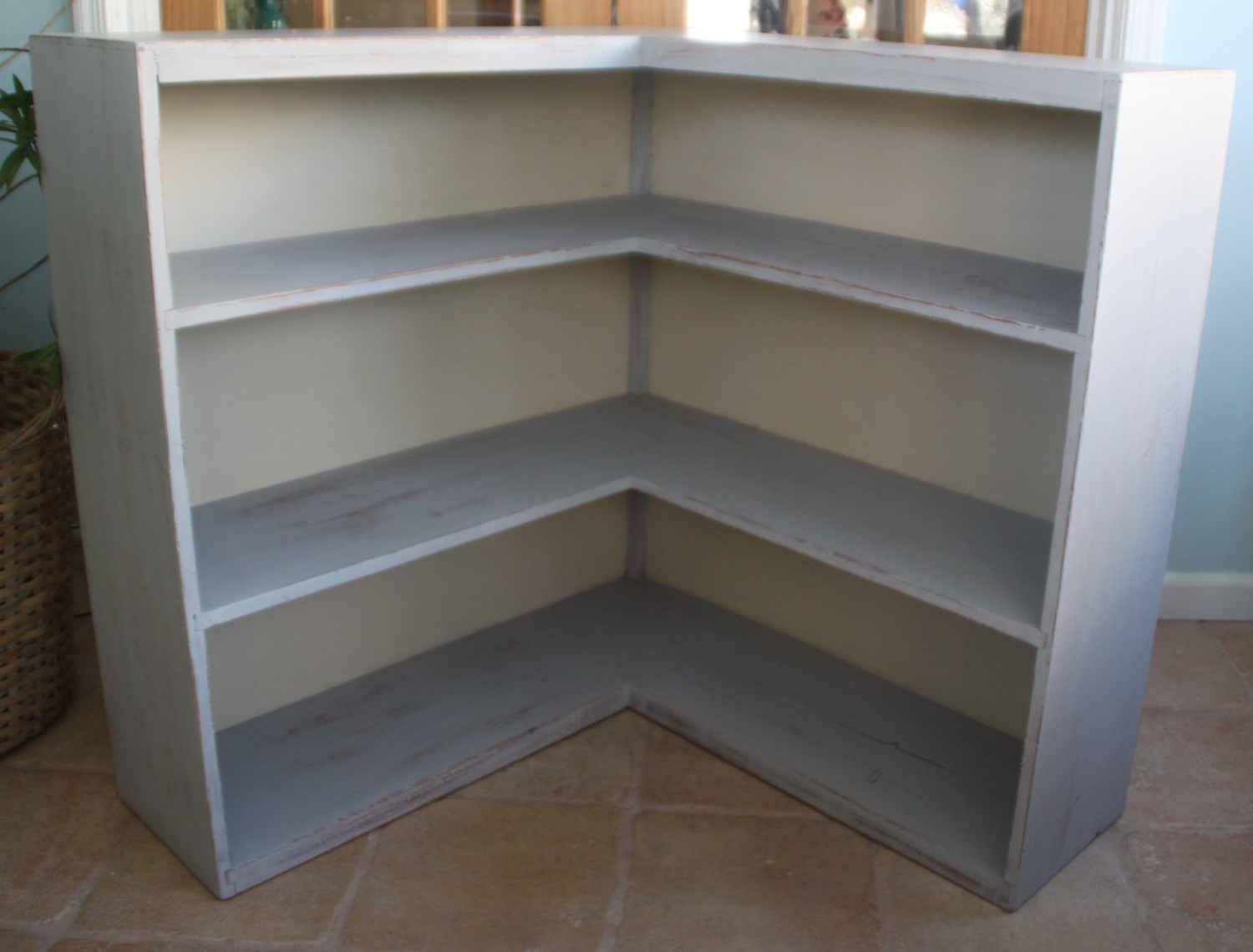 "White Corner Bookcase — Mom's Tamales From ""l Shaped In Fashionable Belcher Corner Bookcases (View 12 of 20)"