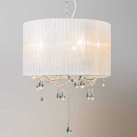 White Inside 2018 Thresa 5 Light Shaded Chandeliers (View 10 of 25)