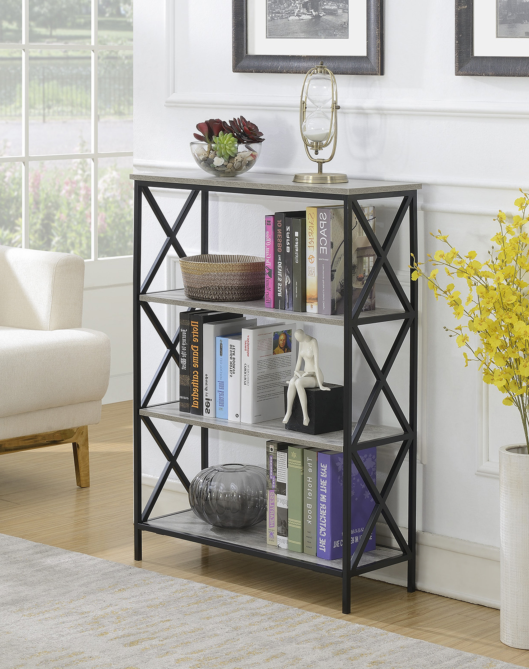 Widely Used Abbottsmoor Etagere Bookcases Within Abbottsmoor Etagere Bookcase (View 18 of 20)