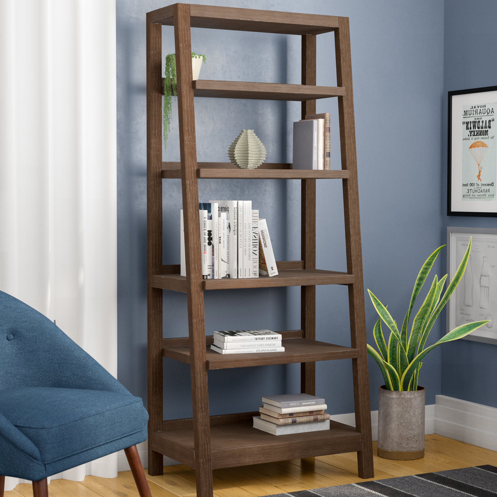 Widely Used Adjustable Shelves Leaning Bookcases You'll Love In 2019 Within Riddleville Ladder Bookcases (View 4 of 20)