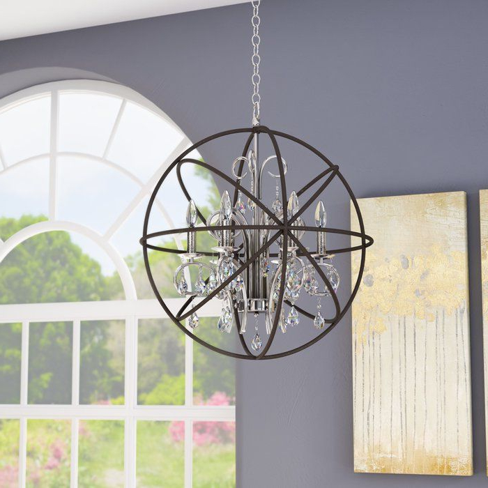 Widely Used Alden 6 Light Globe Chandeliers Within Alden 6 Light Globe Chandelier In (View 11 of 25)