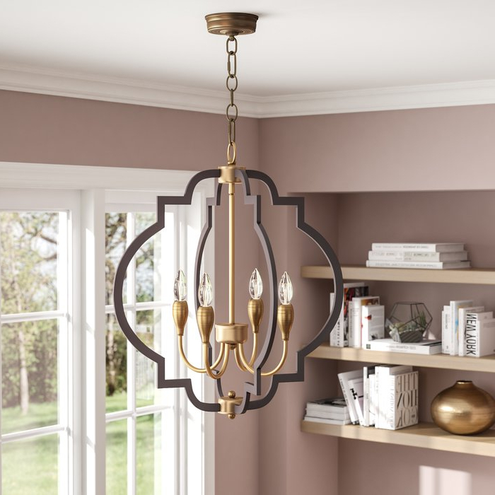 Widely Used Astin 4 Light Geometric Chandelier Pertaining To Reidar 4 Light Geometric Chandeliers (View 25 of 25)