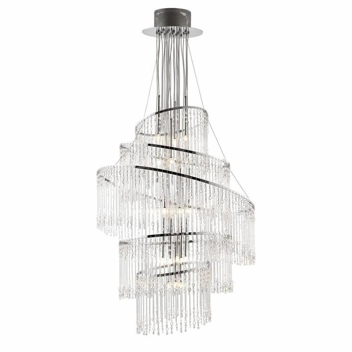 Widely Used Camilla 9 Light Candle Style Chandeliers With Regard To Signature – Large Cascading 9 Light Chandelier – Clear (View 25 of 25)