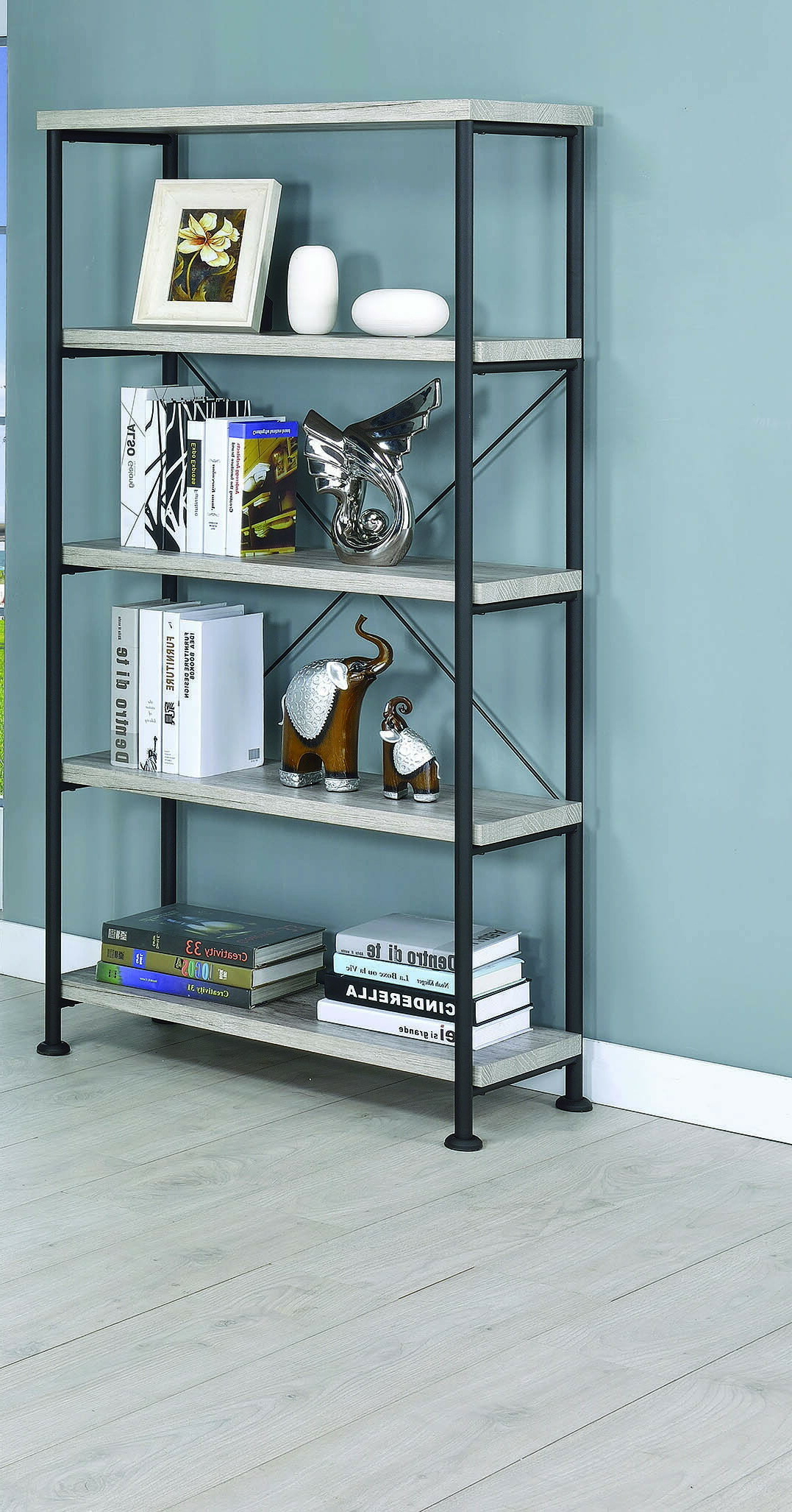 Widely Used Cifuentes Dual Etagere Bookcases For Cifuentes Single Etagere Bookcase (View 4 of 20)