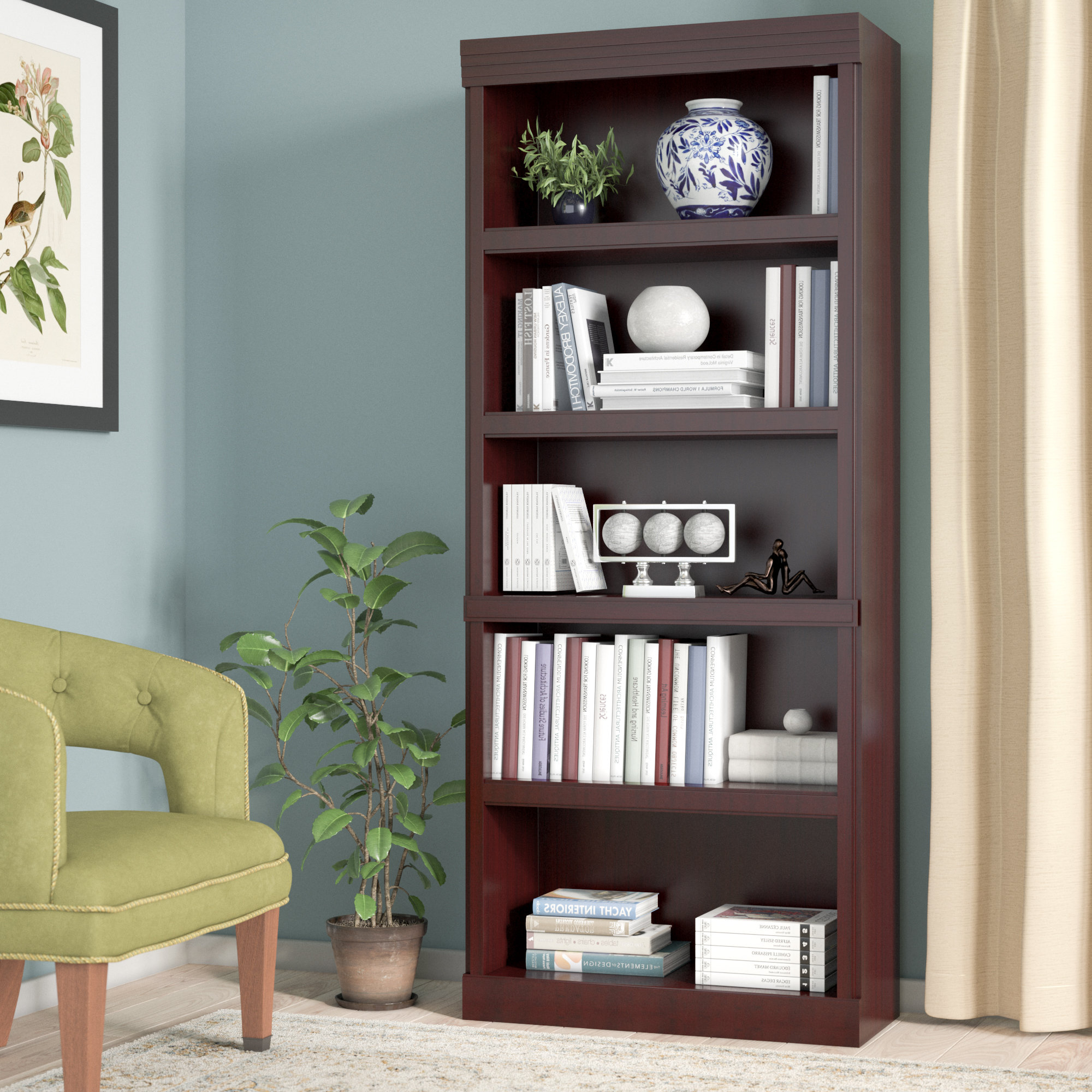 Widely Used Clintonville Standard Bookcase Within Kayli Standard Bookcases (View 15 of 20)