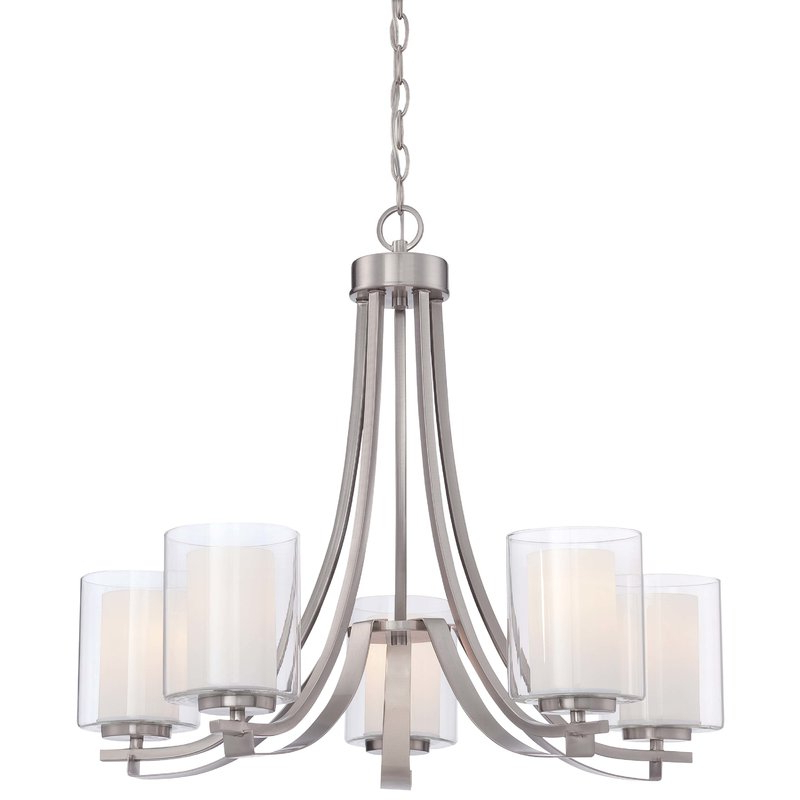 Widely Used Crofoot 5 Light Shaded Chandeliers With Demby 5 Light Shaded Chandelier (View 24 of 25)