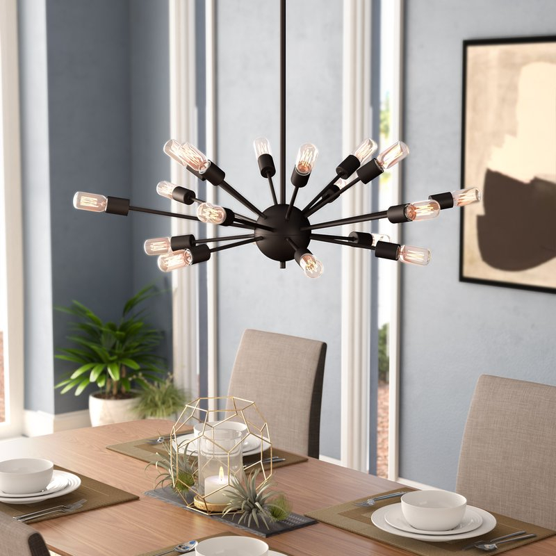Widely Used Defreitas 18 Light Sputnik Chandeliers With Weiss 18 Light Chandelier (View 25 of 25)