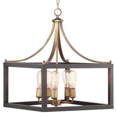 Widely Used Farmhouse – Chandeliers – Lighting – The Home Depot In Kenna 5 Light Empire Chandeliers (View 24 of 25)