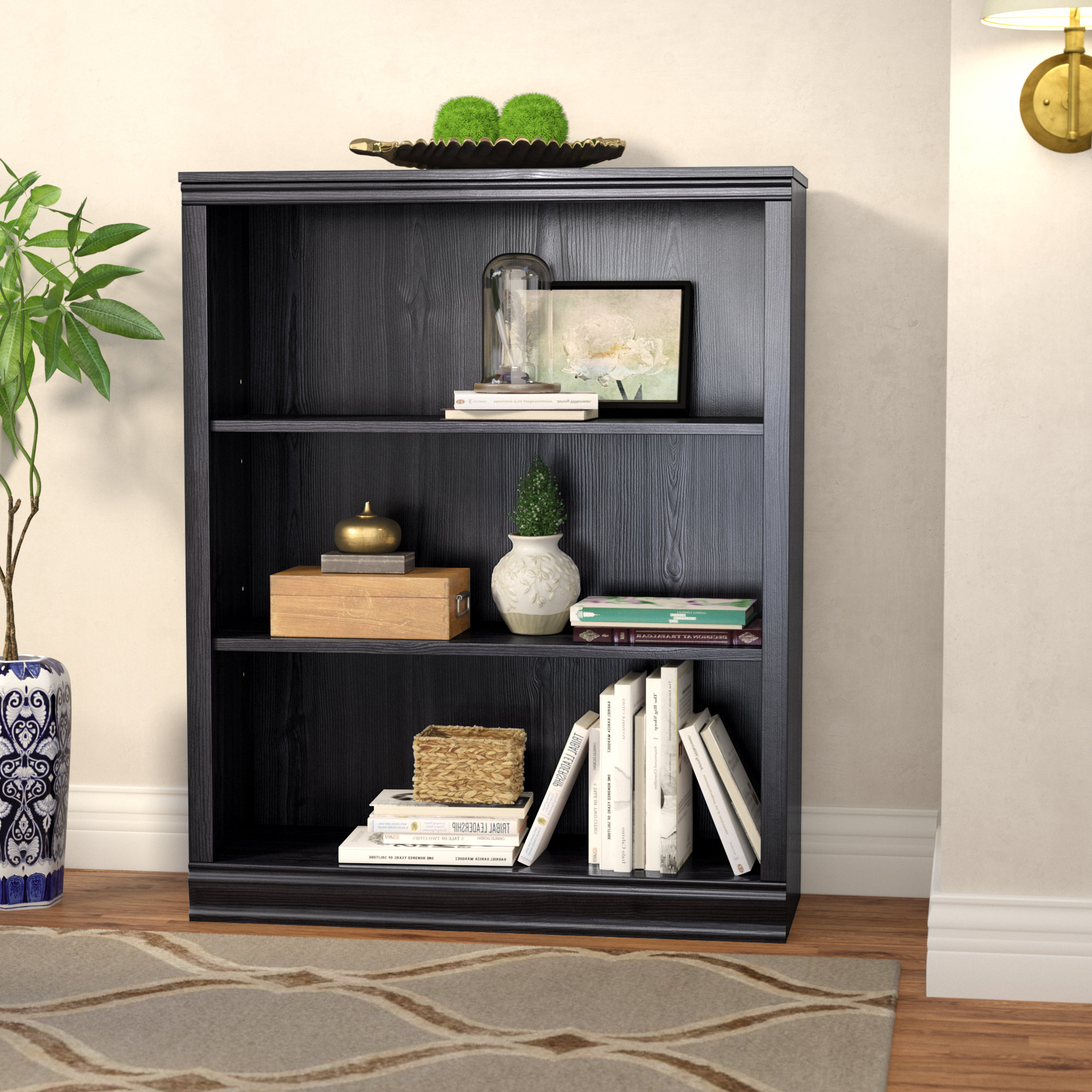 Widely Used Gianni Standard Bookcases Throughout Caines 3 Shelf Standard Bookcase (View 14 of 20)