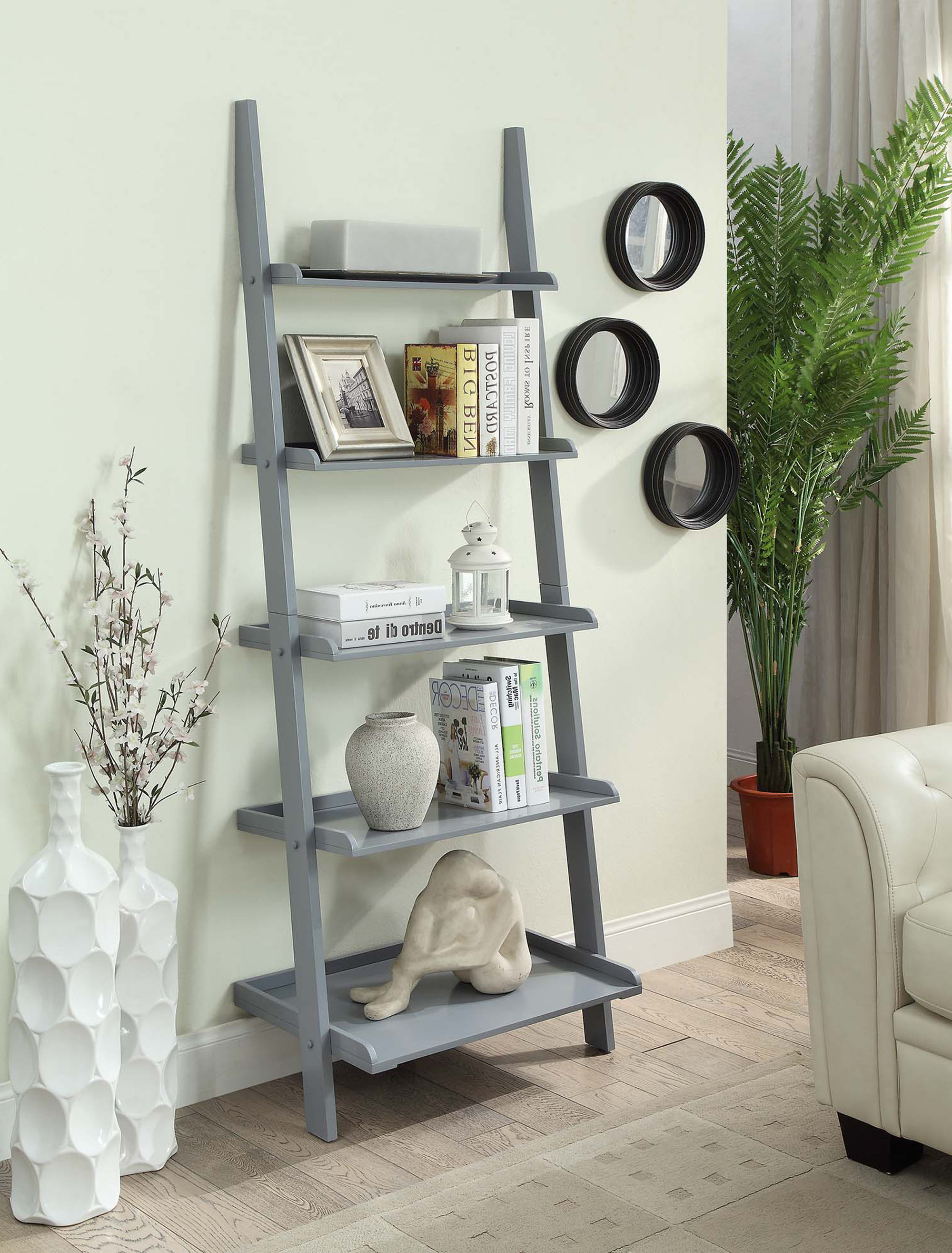 Widely Used Gilliard Ladder Bookcase Throughout Ricardo Ladder Bookcases (View 11 of 20)