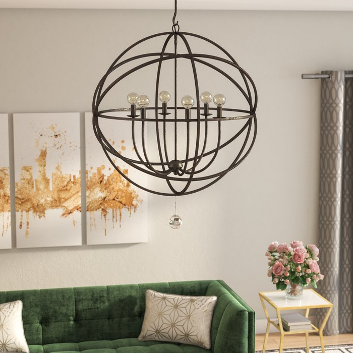 Widely Used Gregoire 6 Light Globe Chandeliers Throughout Gregoire 6 Light Globe Chandelier (View 24 of 25)