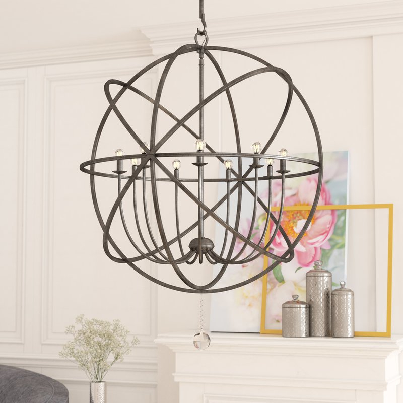 Widely Used Gregoire 6 Light Globe Chandeliers With Regard To Gregoire 9 Light Globe Chandelier (View 25 of 25)