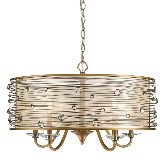 Widely Used Hermione 5 Light Drum Chandelier Pertaining To Hermione 5 Light Drum Chandeliers (View 5 of 25)