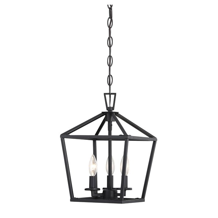 Widely Used Israel 3 Light Lantern Geometric Pendant Throughout Gabriella 3 Light Lantern Chandeliers (View 25 of 25)