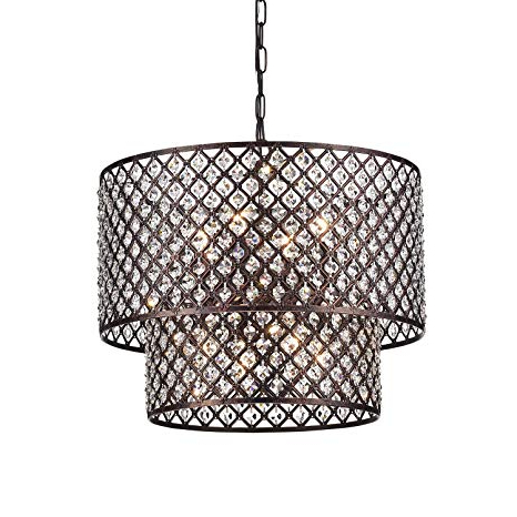 Widely Used Jill 4 Light Drum Chandeliers With Regard To Edvivi Marya 8 Light Antique Copper Finish Round Dual Drum Crystal Chandelier Ceiling Fixture (View 10 of 25)