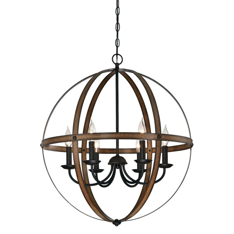 Widely Used Joon 6 Light Globe Chandelier Regarding Donna 4 Light Globe Chandeliers (View 25 of 25)