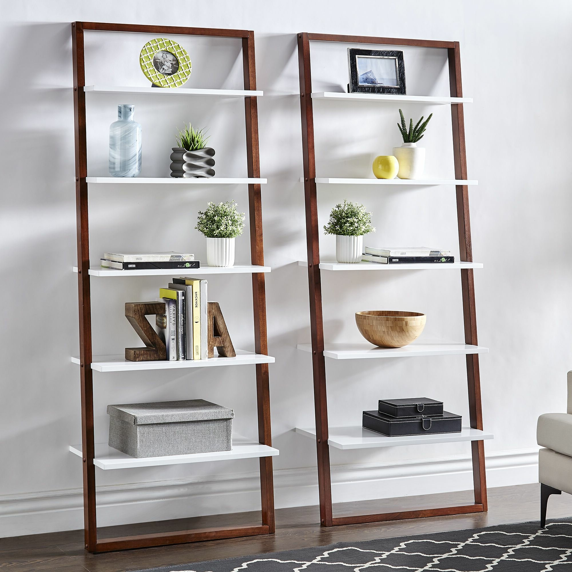 Widely Used Noelle Ashlynn Ladder Bookcases With Leaning Bookcases You'll Love In  (View 20 of 20)