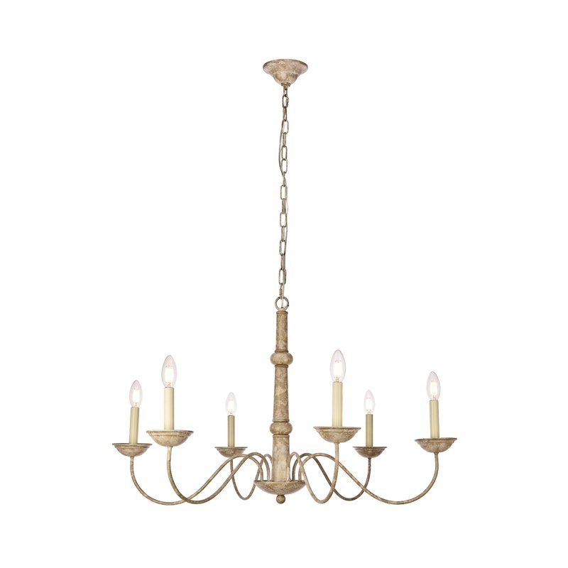 Widely Used Seneca 6 Light Candle Style Chandelier Inside Hamza 6 Light Candle Style Chandeliers (View 25 of 25)