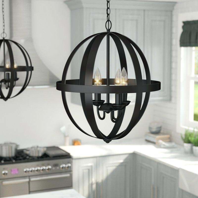 Widely Used Shipststour 3 Light Globe Chandeliers Regarding 3 Light Globe Chandelier Antique Bronze Wrought Iron Cage (View 25 of 25)