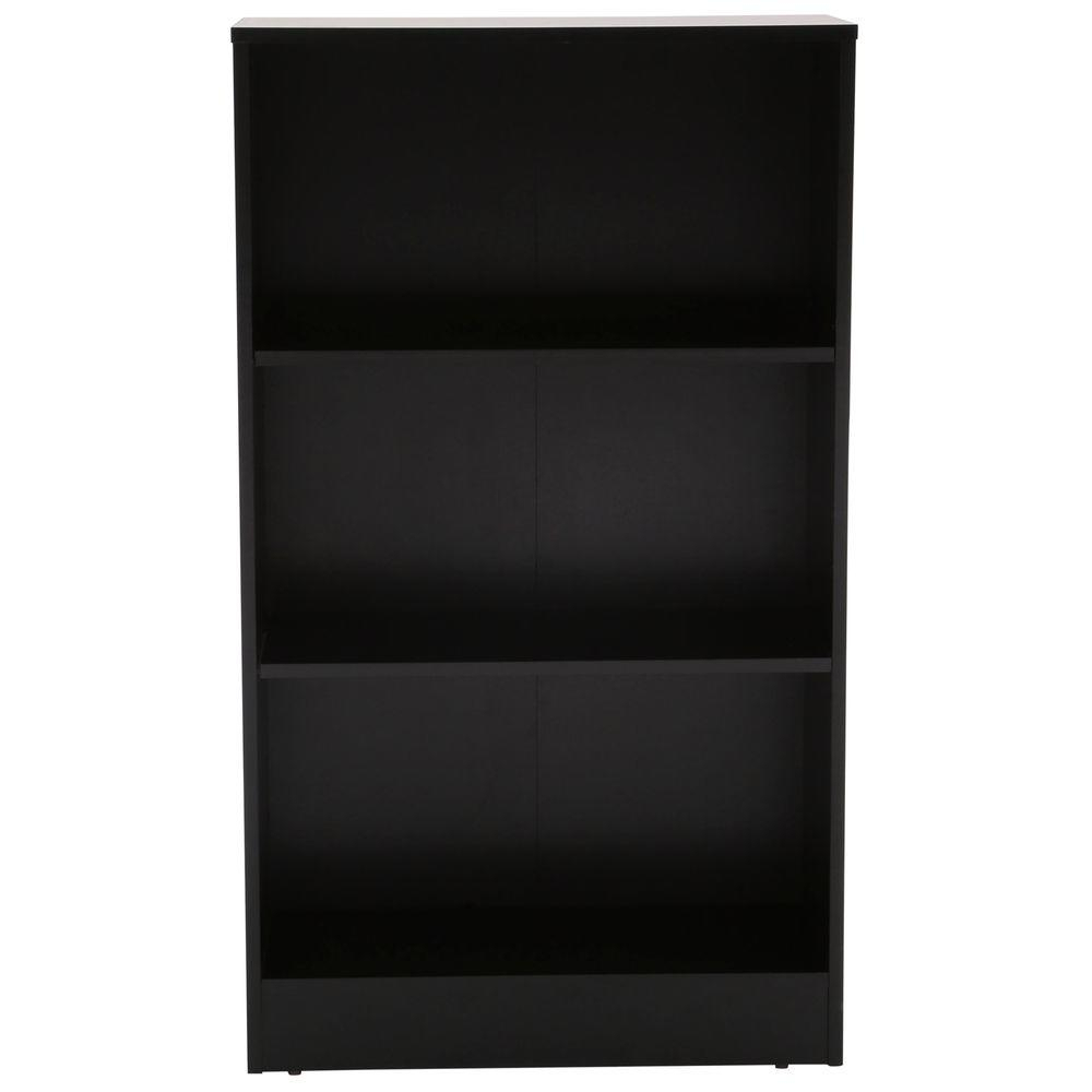 Widely Used Standard Bookcases With Black 3 Shelf Bookcase (View 20 of 20)