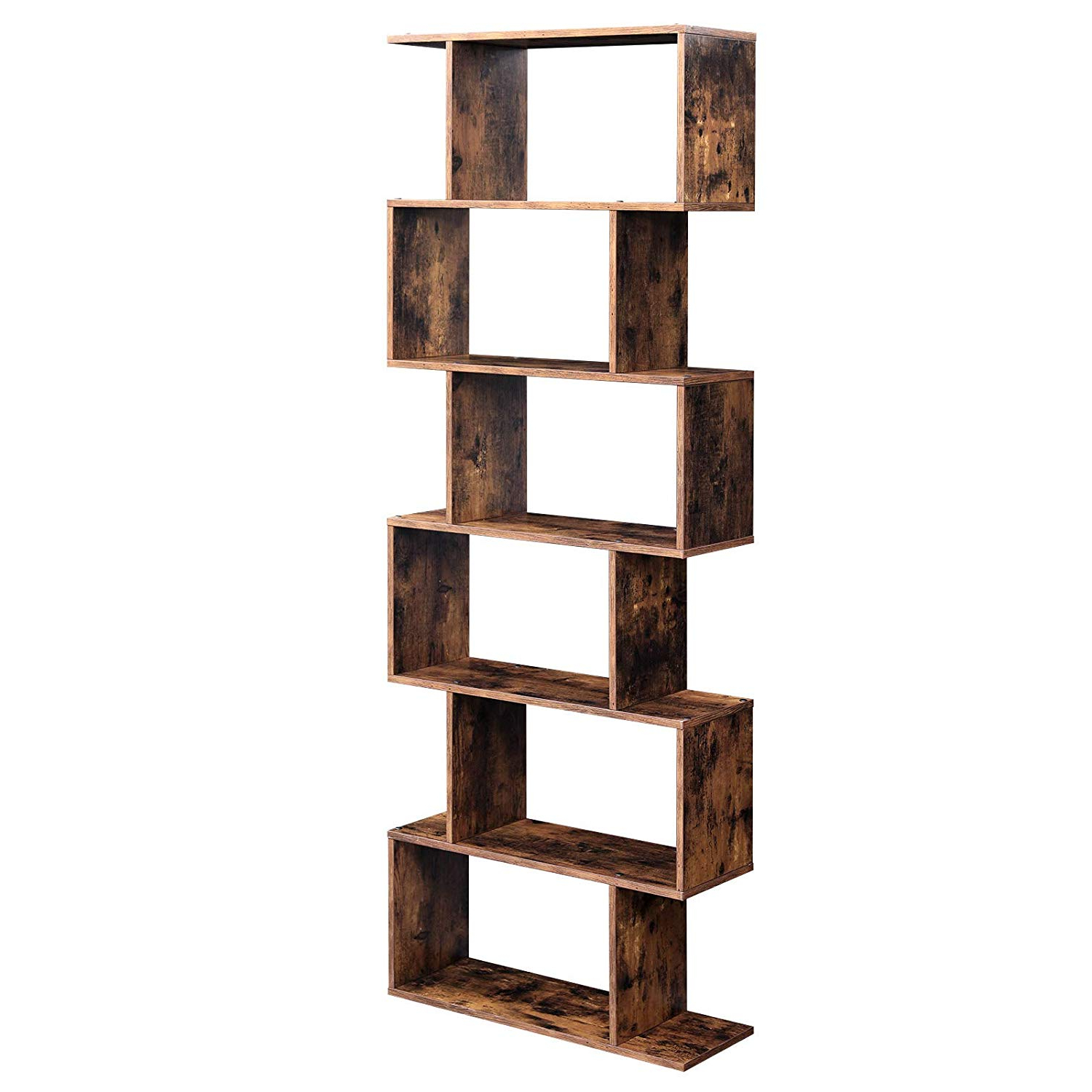 Widely Used Vasagle Wooden Bookcase, Cube Display Shelf And Room Divider With Decorative Storage Cube Bookcases (View 16 of 20)