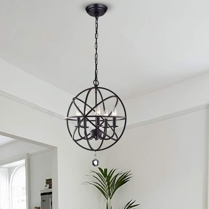 Widely Used Verlene Foyer 5 Light Globe Chandeliers Regarding Three Posts Verlene Foyer 5 Light Globe Chandelier In (View 3 of 25)