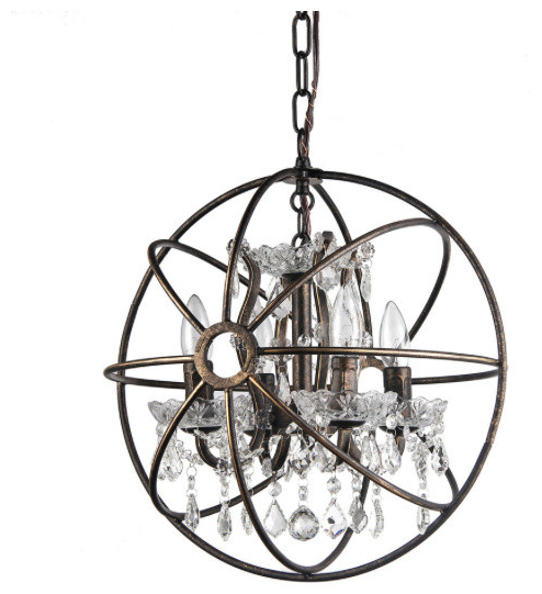Widely Used Von 4 Light Crystal Chandeliers With Regard To Afaura 4 Light Crystal Chandelier (View 9 of 25)