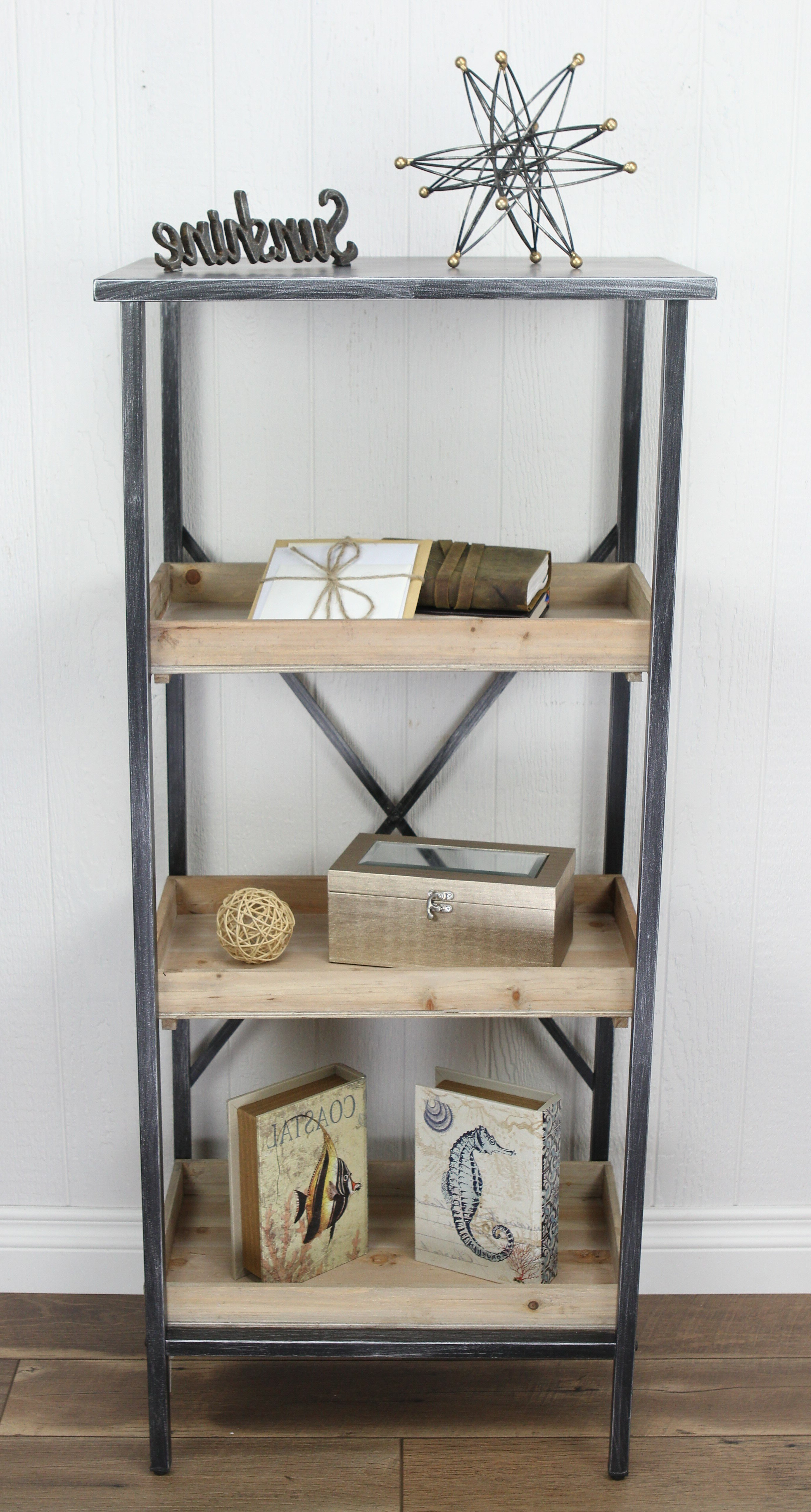 Widely Used Whipkey Etagere Bookcases In Gracie Oaks Muro Etagere Bookcase (View 7 of 20)