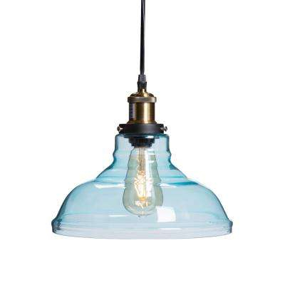 Witten 1 Light Soft Aqua Colored Glass Pendant Lamp Hd88265 With Regard To Famous Whitten 4 Light Crystal Chandeliers (View 25 of 25)