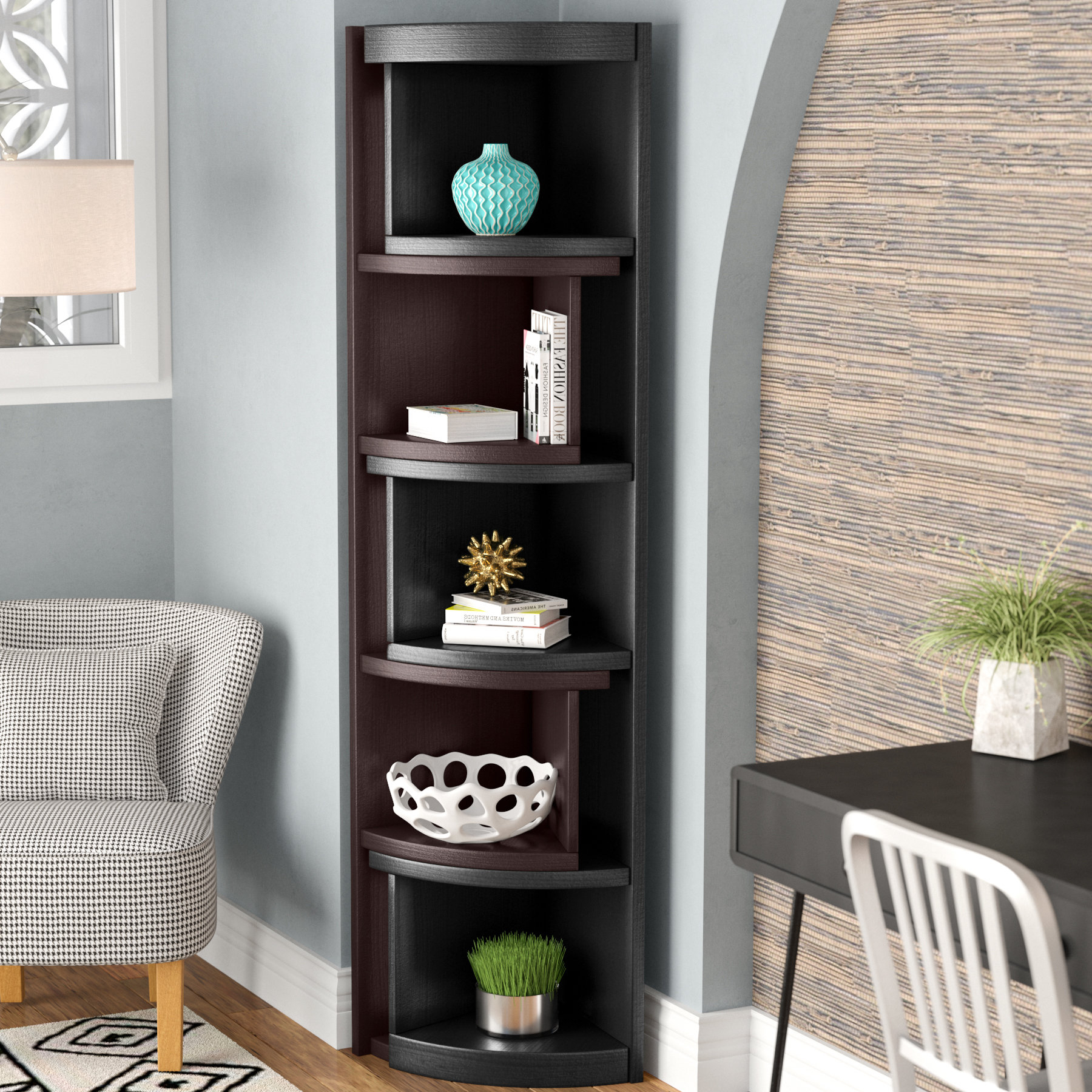 Wooster Corner Unit Bookcase With Best And Newest Courtdale Corner Bookcases (View 18 of 20)