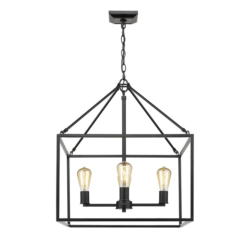 Zabel 4 Light Lantern Square / Rectangle Pendant Pertaining To Current Thorne 4 Light Lantern Rectangle Pendants (Gallery 23 of 25)