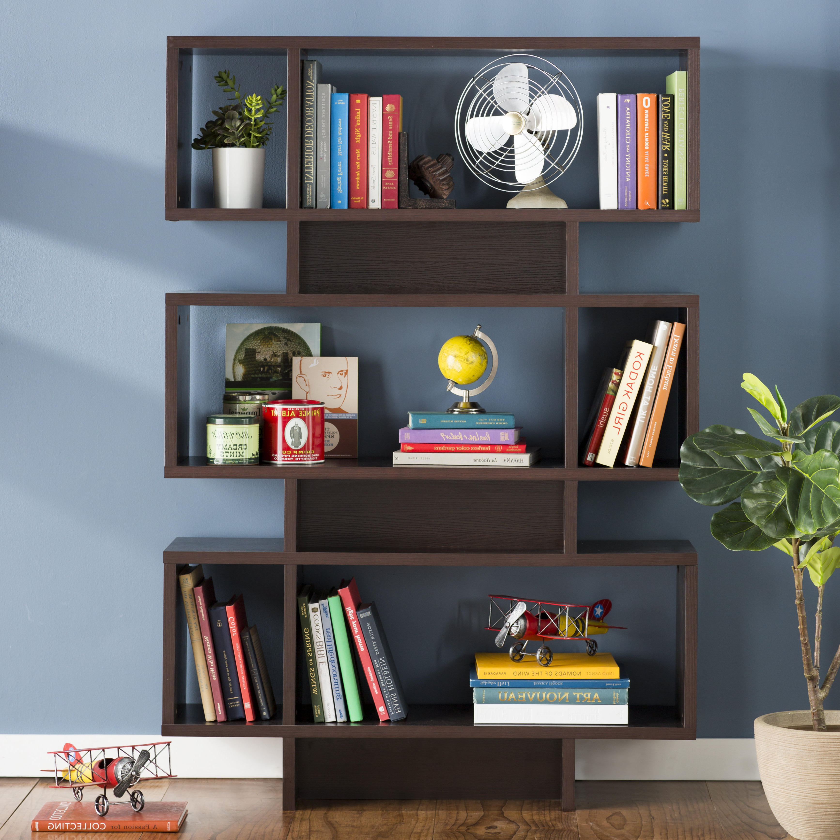 Zeigler Geometric Bookcase & Reviews (Gallery 13 of 20)