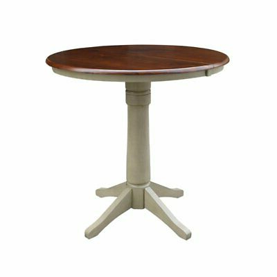 """2019 36"""" Round Top Pedestal Table With 12"""" Leaf – (View 2 of 25)"""