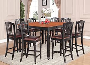 2019 Abby Bar Height Dining Tables Pertaining To Amazon – 7pc Square Counter Height Dining Table (View 13 of 25)