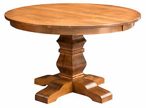 2019 Adejah 35'' Dining Tables Inside Amish Round Pedestal Dining Table Solid Wood Rustic (View 25 of 25)