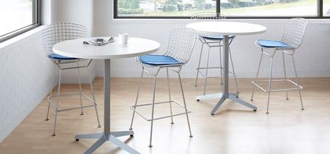 2019 Collis Round Glass Breakroom Tables Throughout Dividends Horizon® X Base Tables With Various Height And (View 24 of 25)