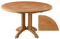 2019 Corvena 48'' Pedestal Dining Tables In Atlantis Teakwood 48 Inch Round Pedestal Table (View 7 of 25)