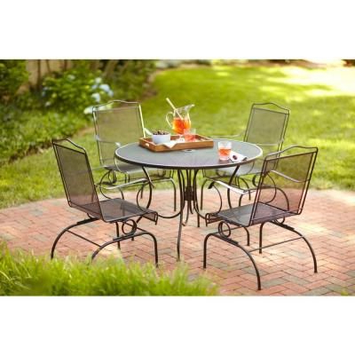 2019 Deonte 38'' Iron Dining Tables With Hampton Bay Jackson 44 In (View 5 of 25)