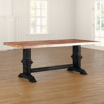 2019 Febe Pine Solid Wood Dining Tables With Regard To Stephen Pine Solid Wood Dining Table In (View 9 of 25)