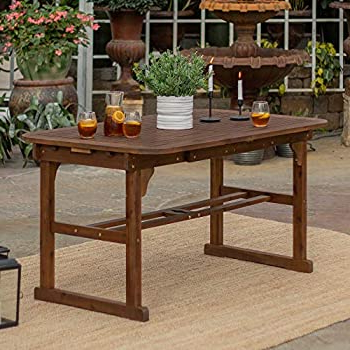 2019 Keown 43'' Solid Wood Dining Tables Inside Amazon : Eucalyptus 43 Inch Round Folding Deck Table (View 3 of 25)