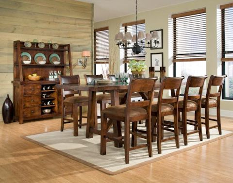 2019 Legacy Classic Furniture Woodland Ridge Trestle Pub Table In Alexxes 38'' Trestle Dining Tables (View 21 of 25)