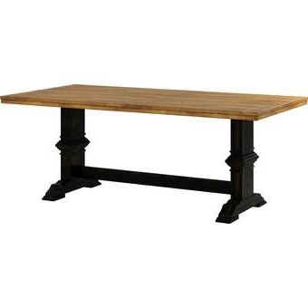 2019 Leonila 48'' Trestle Dining Tables For Artur Extending Dining Table & Reviews (View 4 of 25)